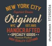 new york city superior denim ... | Shutterstock .eps vector #572502016