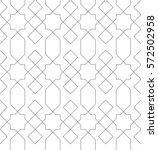 islamic line pattern. seamless... | Shutterstock .eps vector #572502958