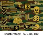 military set of army badge...