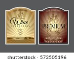 set of labels for wine. vector... | Shutterstock .eps vector #572505196