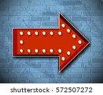 vector marquee arrow symbol | Shutterstock .eps vector #572507272
