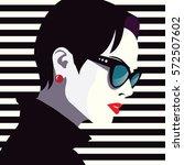 fashion woman in style pop art. ... | Shutterstock .eps vector #572507602