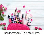 Different Makeup Cosmetics On...