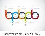 vector infographics timeline... | Shutterstock .eps vector #572511472