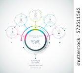 vector infographic 3d circle... | Shutterstock .eps vector #572511562