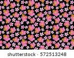 exotic flowers in allover... | Shutterstock . vector #572513248