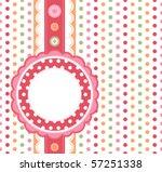 polka dot design frame   Shutterstock .eps vector #57251338