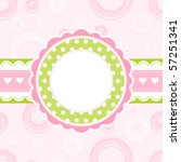 baby girl arrival announcement... | Shutterstock .eps vector #57251341