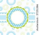baby boy arrival announcement... | Shutterstock .eps vector #57251386