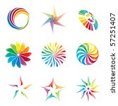 A Set Of Colorful Graphic...