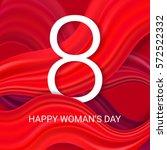 happy women's day   8 march... | Shutterstock .eps vector #572522332