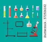 laboratory equipment  jars ... | Shutterstock .eps vector #572526142