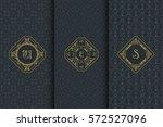 vector set of vintage design... | Shutterstock .eps vector #572527096