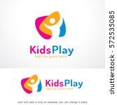 kids play logo template design... | Shutterstock .eps vector #572535085
