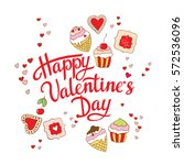 happy  valentines day card... | Shutterstock .eps vector #572536096