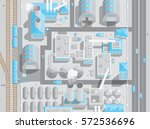 factory top view. production ...   Shutterstock .eps vector #572536696