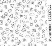 seamless texture with doodle... | Shutterstock .eps vector #572537122