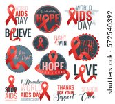 aids awareness ribbon... | Shutterstock .eps vector #572540392
