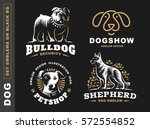 set logo illustration dog  pet... | Shutterstock .eps vector #572554852