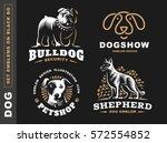 set logo illustration dog  pet... | Shutterstock .eps vector #572554852
