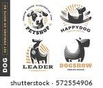 set logo illustration dog  pet... | Shutterstock .eps vector #572554906