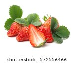 Strawberry Isolated Over White...