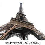 curves of the famous eiffel...   Shutterstock . vector #57255682