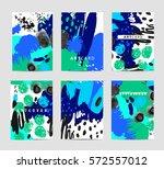 vector set of artistic creative ... | Shutterstock .eps vector #572557012