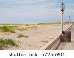The boardwalk and beach of Seaside, Oregon