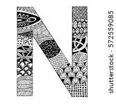 zentangle stylized alphabet  ... | Shutterstock .eps vector #572559085