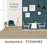 furniture. interior. living... | Shutterstock .eps vector #572564485