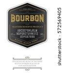 typeface. label. bourbon... | Shutterstock .eps vector #572569405