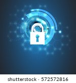 technology security concept.... | Shutterstock .eps vector #572572816