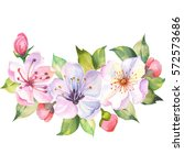 Watercolor Beautiful Bouquet O...