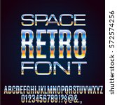 retro future chrome space sci... | Shutterstock .eps vector #572574256