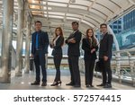 business team standing and... | Shutterstock . vector #572574415