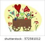 flower arrangement from... | Shutterstock . vector #572581012