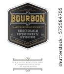 typeface. label. bourbon... | Shutterstock .eps vector #572584705