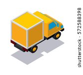 isometric delivery track   Shutterstock .eps vector #572588398