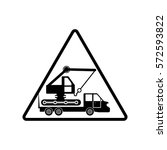 attention crane icon vector... | Shutterstock .eps vector #572593822