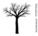 bare tree vector symbol icon... | Shutterstock .eps vector #572597026