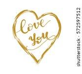 hand drawn lettering card...   Shutterstock .eps vector #572597512