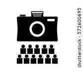 photo or camera icon. vector... | Shutterstock .eps vector #572600695