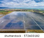 Solar Farm   Aerial View Of...