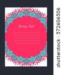 mandala vintage template card...   Shutterstock .eps vector #572606506