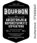 typeface. label. bourbon... | Shutterstock .eps vector #572606665