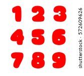 numbers on white. big fat signs.... | Shutterstock .eps vector #572609626