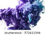 color ink drop in water | Shutterstock . vector #572611546