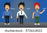 the set of different clothes... | Shutterstock .eps vector #572613022