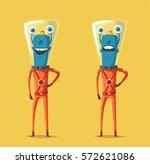 friendly alien. cartoon vector... | Shutterstock .eps vector #572621086